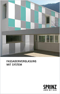 Prospekt Fassadenverglasung mit System