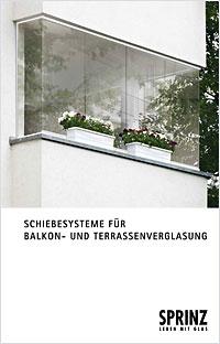 Broschüre Schiebesysteme für Balkon- und Terrassenverglasung