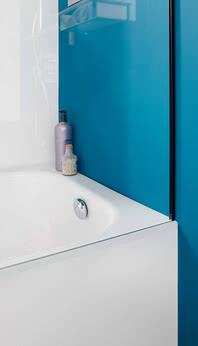 Tansa Spritzschutz für die Badewanne, Seitenansicht