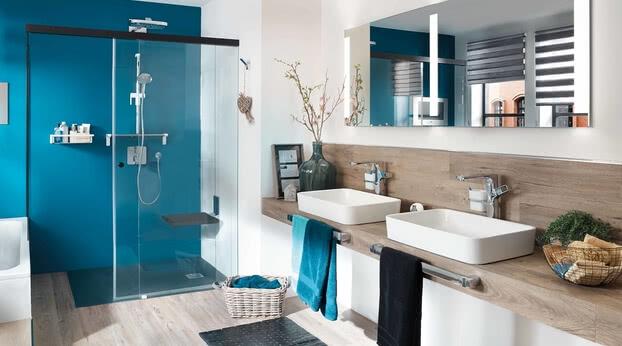 Dusche Tansa Türe geöffnet, Modell Badewannenadaption, eintürig