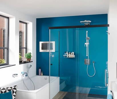 Dusche Tansa Türe geschlossen, Modell Badewannenadaption, eintürig