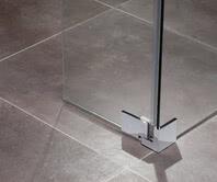 Inloop shower hinge, closed, bottom