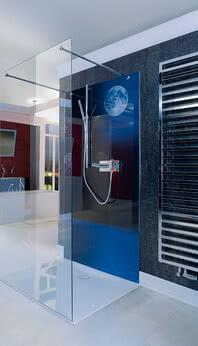 Inloop shower, side view