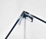 Glass–glass bracket, interior, flush on the inside