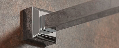 Inloop shower stabilizing bar, square with System Basic