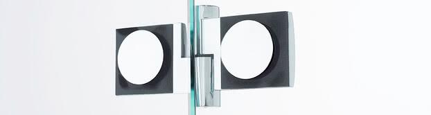 Teilgerahmte BS-Dusche mit Glas/Glas-Beschlag, innen