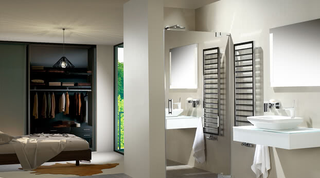 Omega 150 shower custom design with mirrored door
