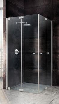 Faltbare Duschkabine aus Glas: Omega Plus als Eckeinstieg