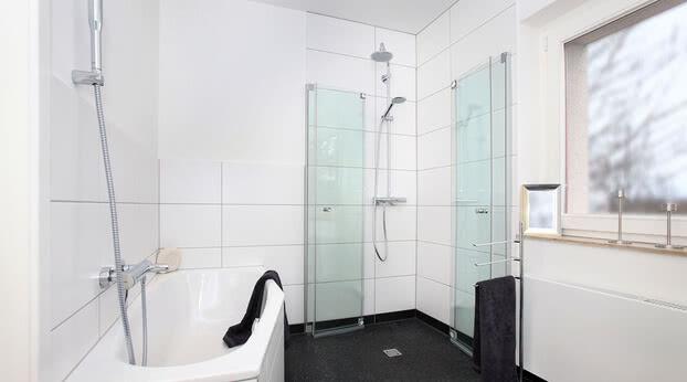 Omega Plus shower folded together