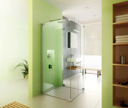 Omega Plus shower, front access model