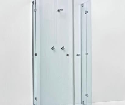 Omega Plus shower, semi-circular model with closed doors