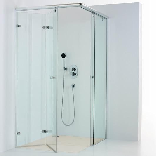 Onyx shower with open door