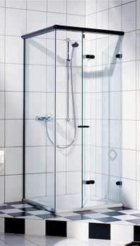 Dusche Onyx mit geöffneter, faltbarer Tür