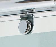 Dusche Onyx, Detailansicht des oberen Beschlags