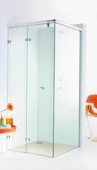 Dusche Onyx, Modell Seiteneinstieg mit geschlossener Tür