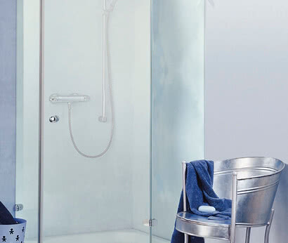 Saphir shower five-sided model, frameless