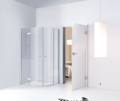 Spinell Plus shower, quadrant model with wall profile