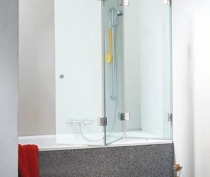 Faltbarer Badewannenaufsatz Glasdusche XXL