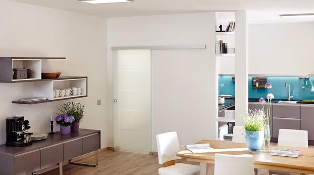Sliding door Motion 700 as a kitchen door