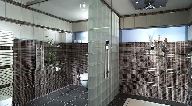 Schiebetür Motion 100 im Badezimmer