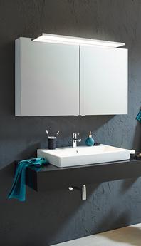 SPRINZ Spiegelschrank mit Panel-Leuchte