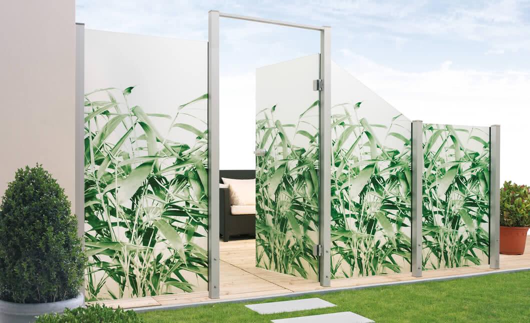 SPRINZ Sichtschutz SystemPremium Glaswand Motiv Bambusblaetter dd offen.jpg
