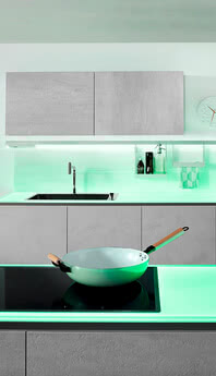 SPRINZ worktop with LED lighting