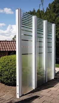 SPRINZ Sichtschutz aus Glas mit Pfostensystem Premium
