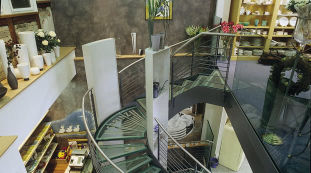 SPRINZ Glastreppe rutschhemmend