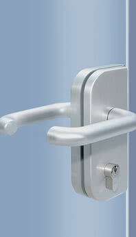 Door handle and lock – One connected unit