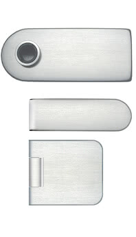 Horizontal polish direction on Private-Line lock and 2-piece hinges
