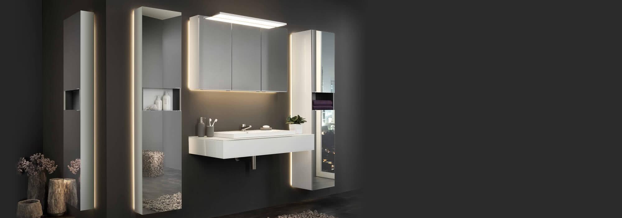 Individuelle Produkte für ihr Bad: Spiegelschränke, verspiegelte Badmöbel