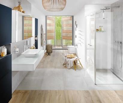 SPRINZ Badmöbel Modern-Unit Aufputz im Badezimmer