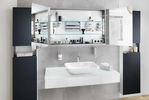 SPRINZ Silver-Line mirror cabinet
