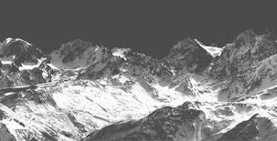 Schneegipfel/Weißdruck auf Parsol grau | 5008
