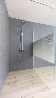 Walk-in shower ColorStar, motif Raindrops