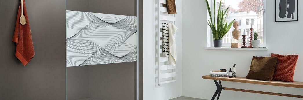 Walk-in shower ColorStar, motif Waves