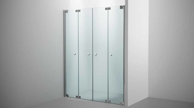 Omega Plus shower, niche solution model with folding door