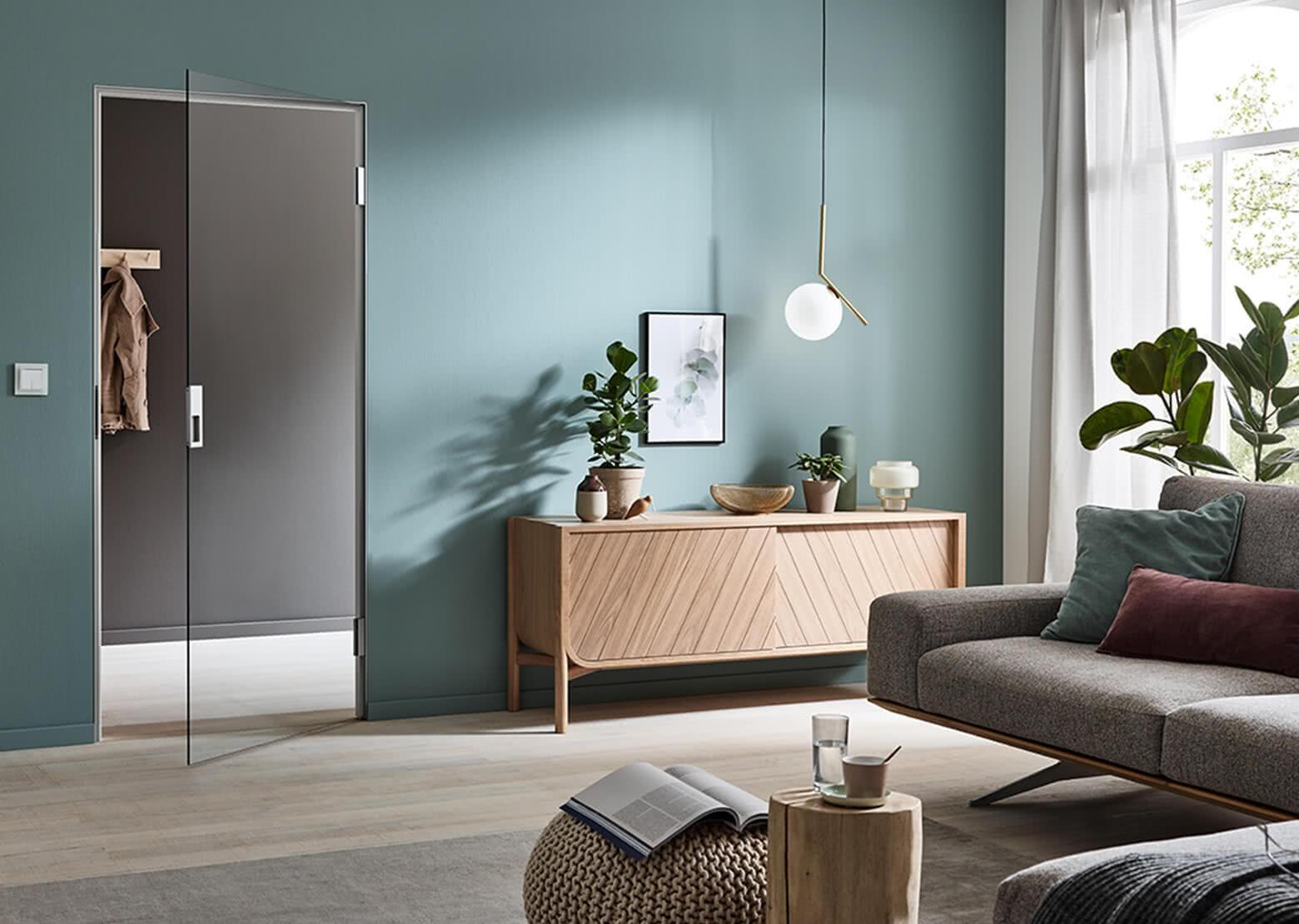 Aluzarge 200 Magnet im Wohnzimmer bei geöffneter Tür