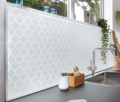 SPRINZ Küchenrückwand mit Motiv und LED-Beleuchtung