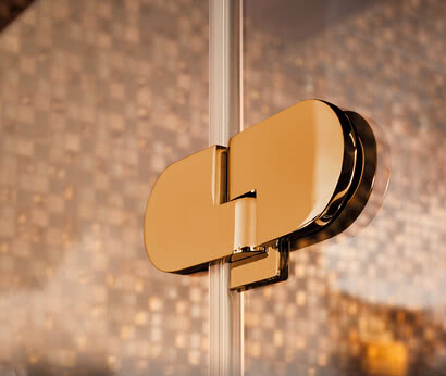 Spinell Plus shower hinges in gold