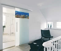 Choose the design of your door to match the room behind it!