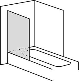 SPRINZ Glasduschen Piktogramme auf Badewanne Festteil web