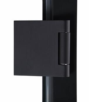 Matching door hinge in black