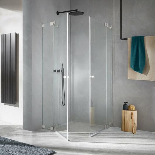 Dusche Omega SuperSteel Edition, Türen geschlossen