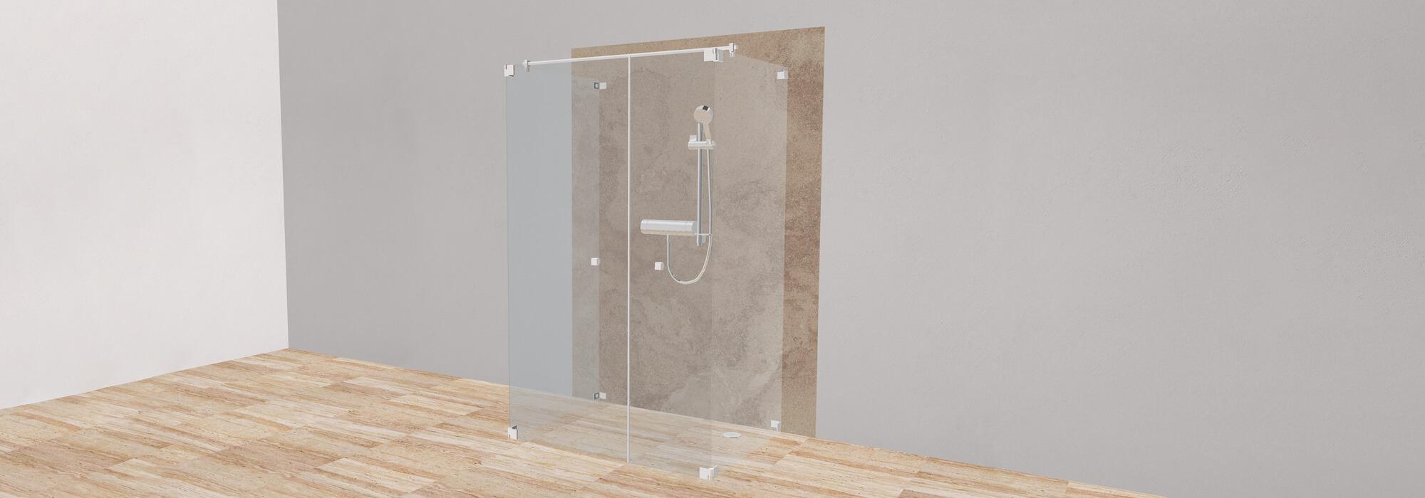 Der einzigartige 3D-Duschenkonfigurator von SPRINZ ermöglicht die Gestaltung von Glasduschen in Echtzeit.