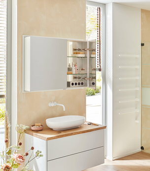 Modern-Line mirror cabinet opened
