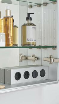 SPRINZ Elegant-Line 2.0 mirror cabinet sockets