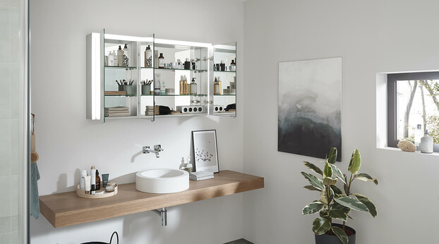 SPRINZ Elegant-Line 2.0 mirror cabinet open